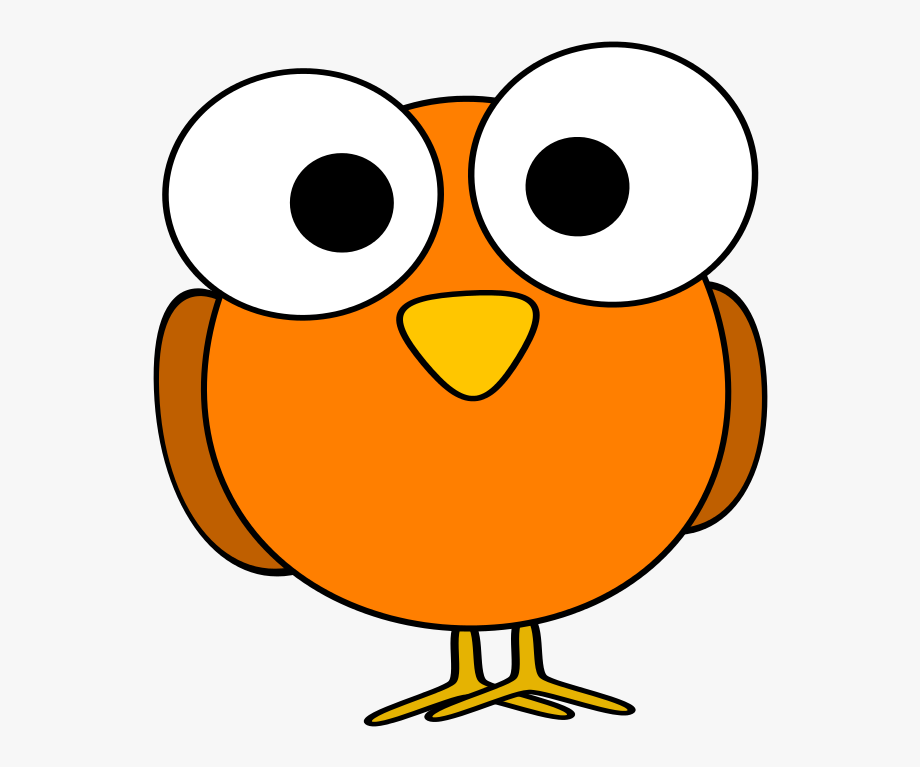 banner Funny animal clipart. Orange bird clip art