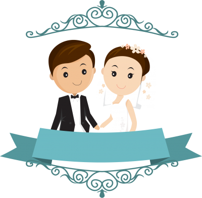 png black and white download Vector cartoons wedding. Cartoon card with groom