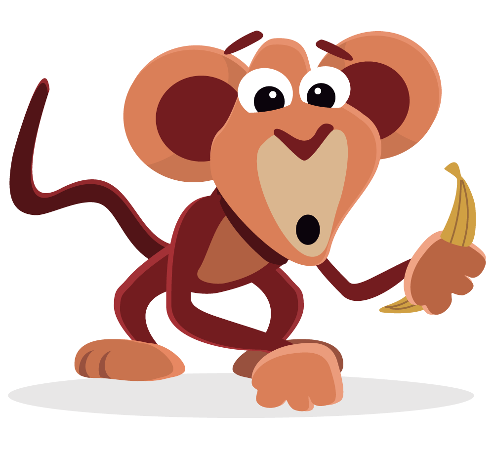 png royalty free library Ape clipart jungle gorilla. Funny banana free on