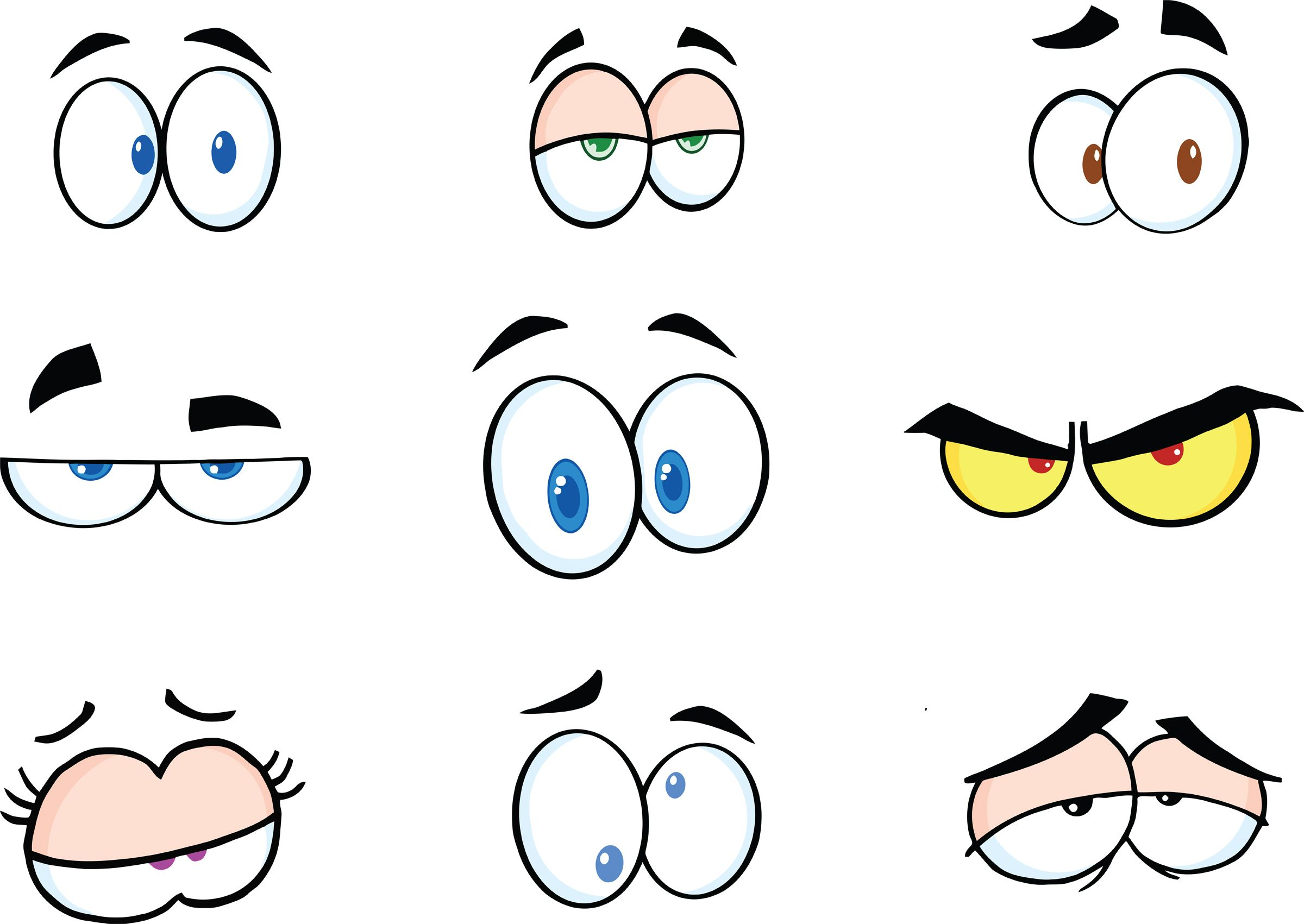 graphic free library Cartoon free printables . Funny eyes clipart