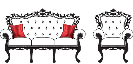 banner black and white library Furniture clipart. Wedding reception chair free