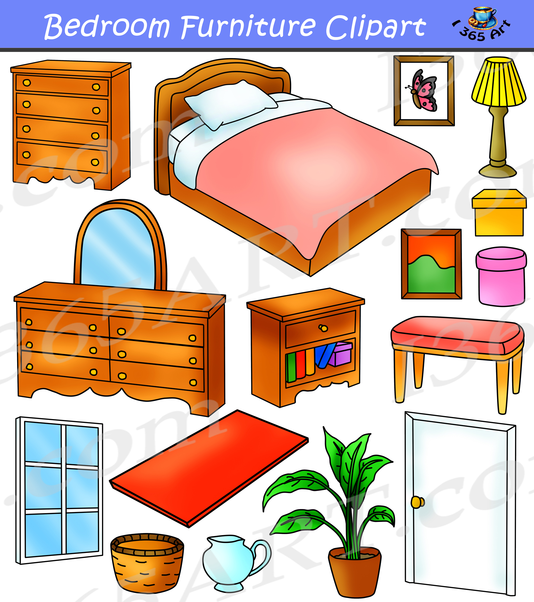 graphic free Bedroom home graphics commercial. Furniture clipart