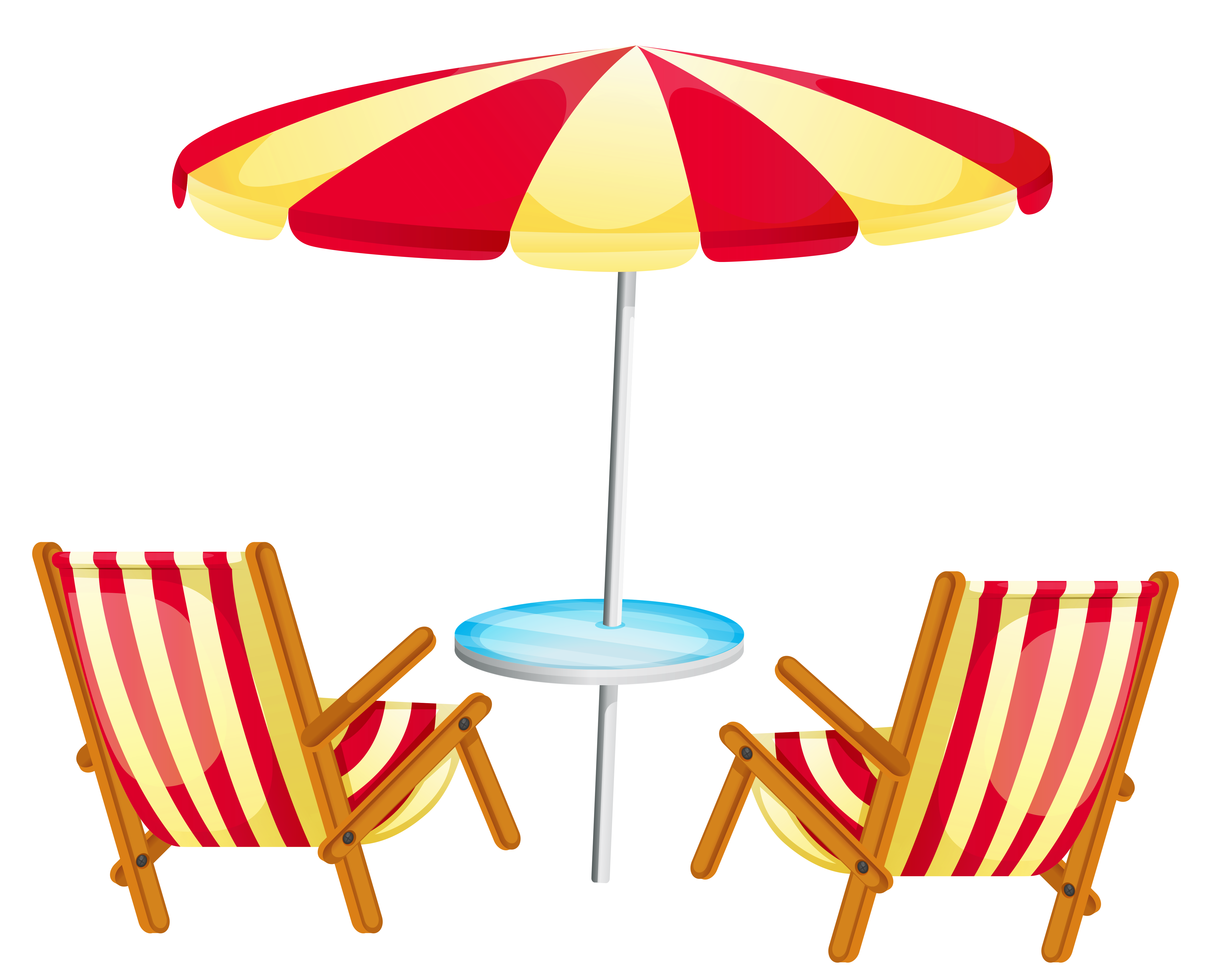 banner royalty free stock Umbrella with chairs png. Beach transparent clipart