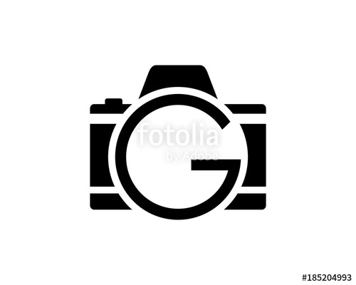jpg freeuse Camera photography with initial. G vector black