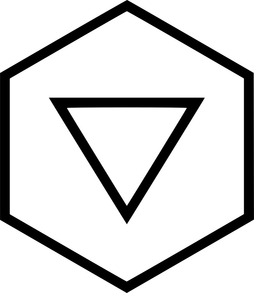 clip freeuse G Down Backward Direction Triangle Hexagon Download Svg Png Icon