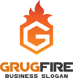 graphic transparent download Fire hexagon letter g Logo Vector