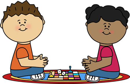 svg royalty free library Kids playing board games. Game clipart.