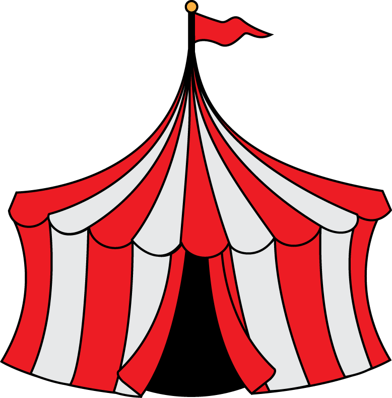 vector royalty free Tent Carnival Game Clipart