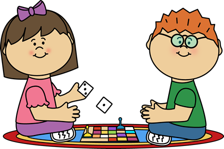banner black and white library Kids sharing toys clipart. Playing board games shop