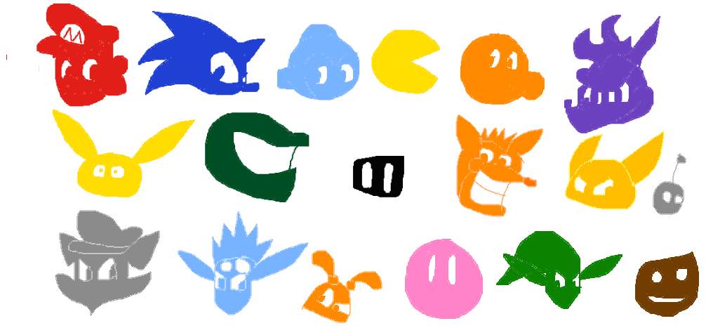 graphic royalty free download Video Game Character Symbols by SpyroUp on DeviantArt