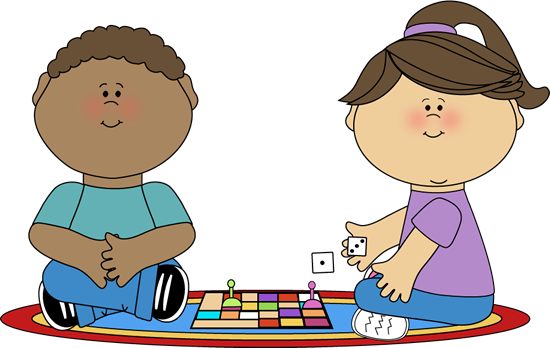 graphic Games clipart. Kids playing board shop