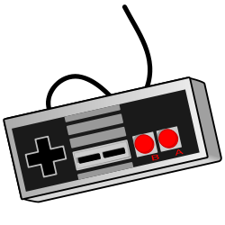 vector royalty free download Old school game controller. Gaming clipart.