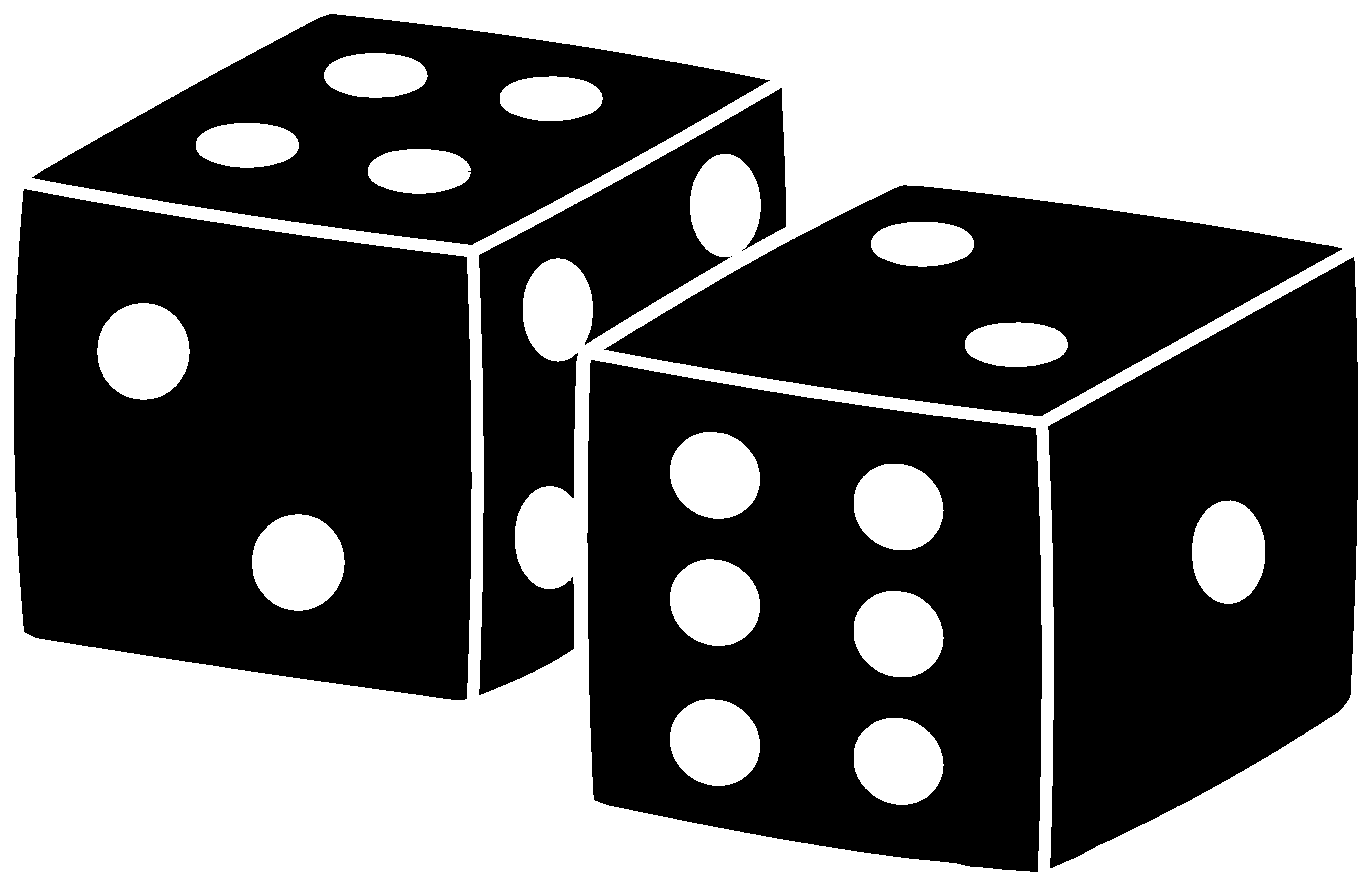 svg freeuse library Dice svg silhouette. Black playing design free