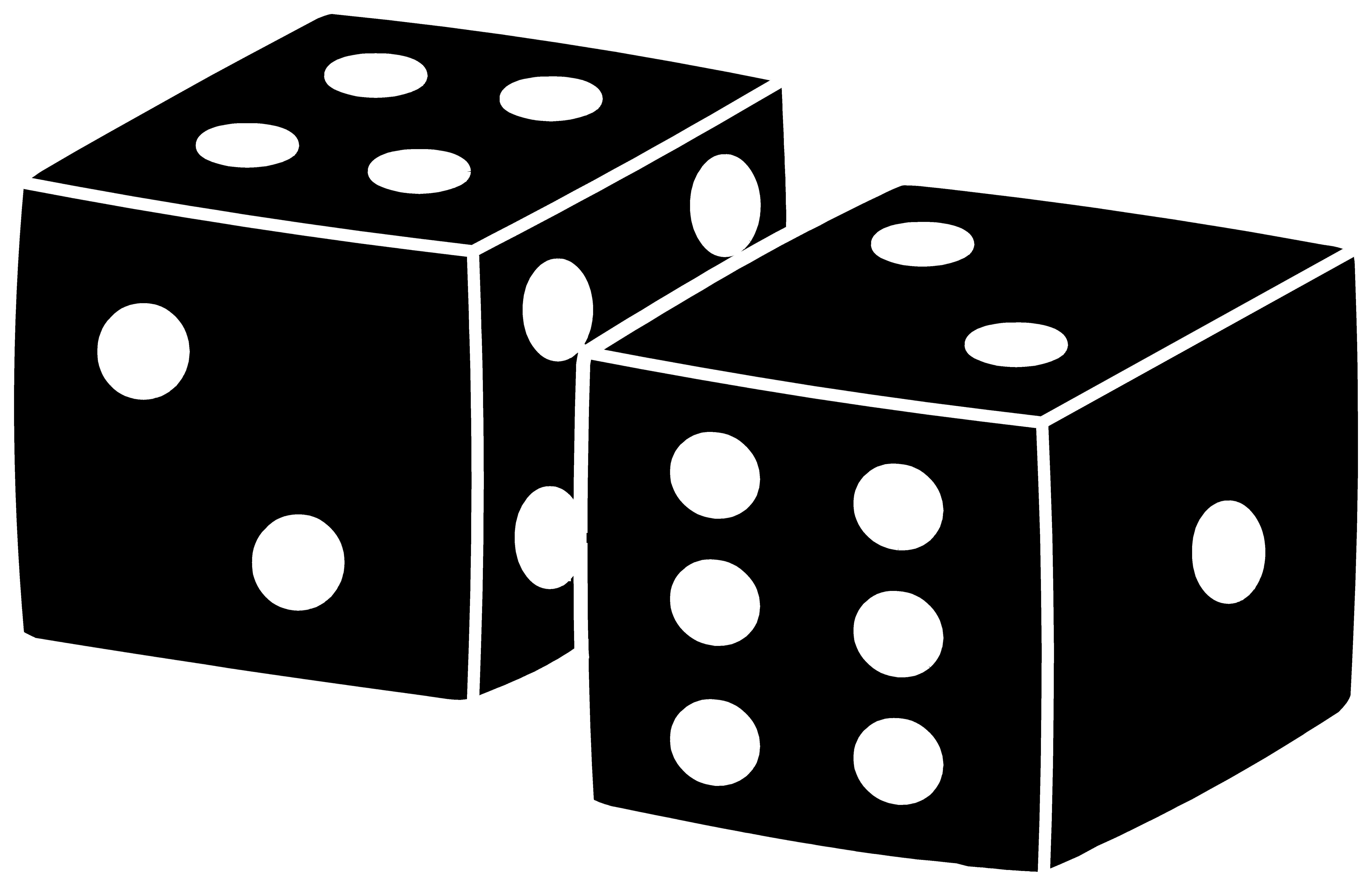 image transparent stock Black Playing Dice Design