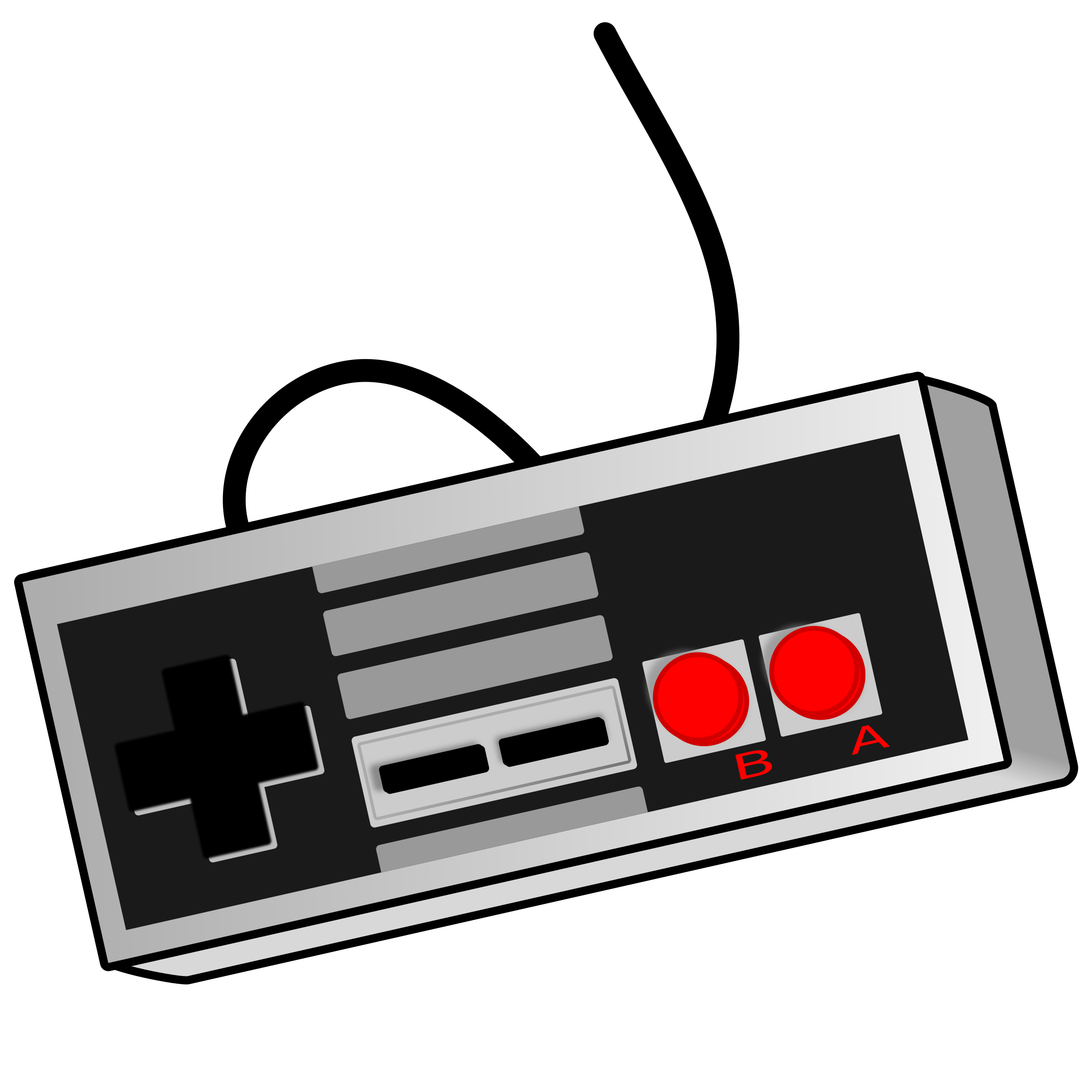 image black and white library Arcade clipart clip art. Old school game controller