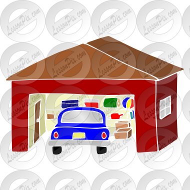 svg transparent Garage clipart. Stencil for classroom therapy.