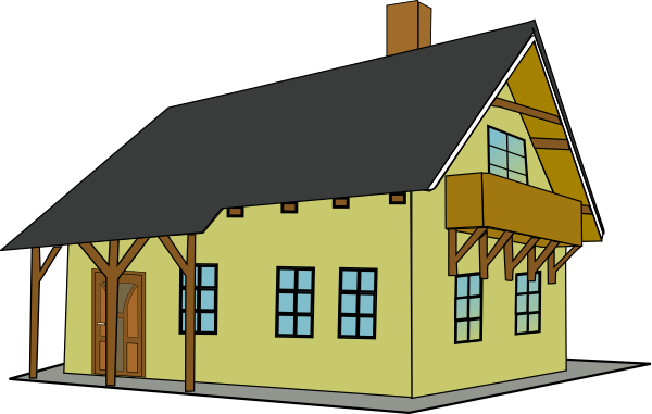 svg library stock clip art house with balcony and sloping roof