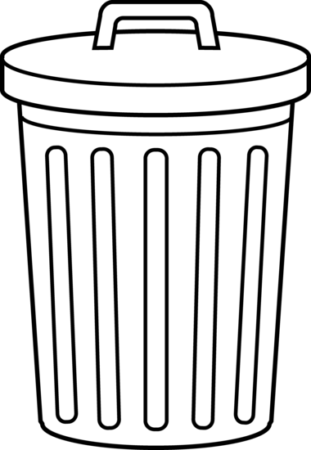 jpg black and white Neoteric Trash Clipart Can Bin Garbage Black And