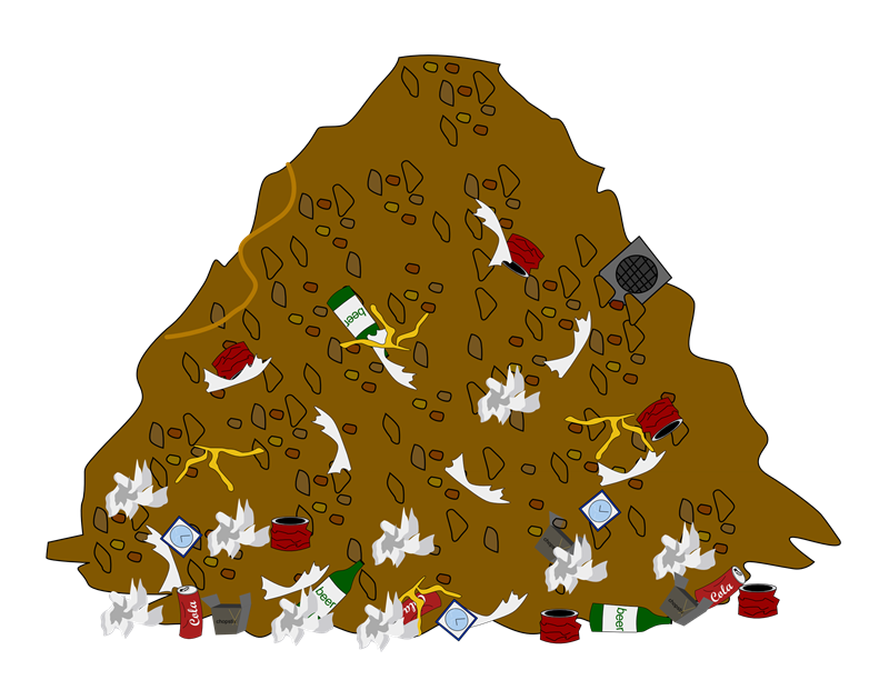 picture transparent Pile Of Trash Clipart