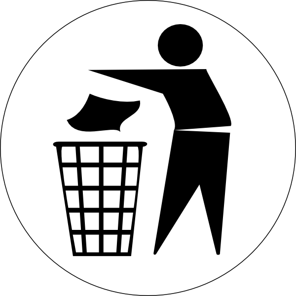 picture black and white Trash box free on. Garbage clipart