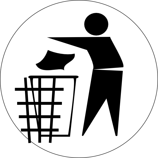 vector black and white Garbage Clip Art at Clker