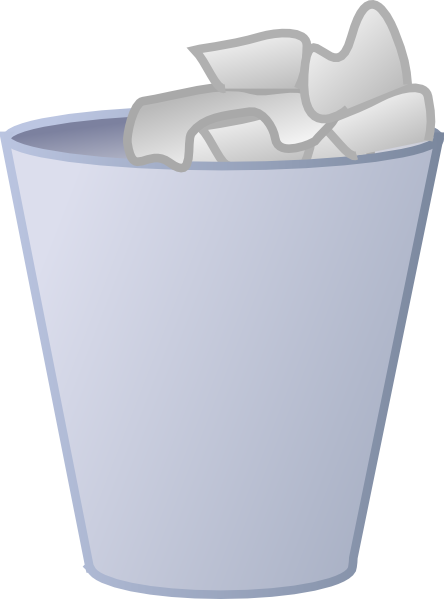transparent library Trash Clipart open