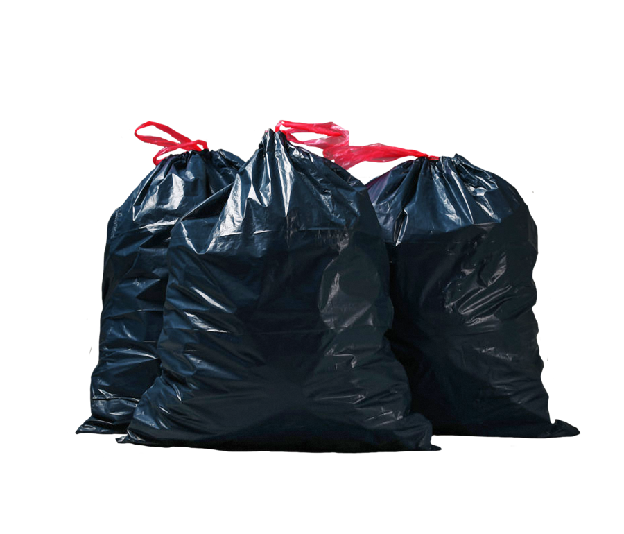 svg royalty free download Garbage bags on a transparent background