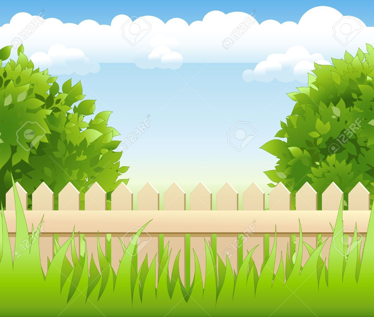 picture freeuse stock Stock vector tree lighting. Garden background clipart