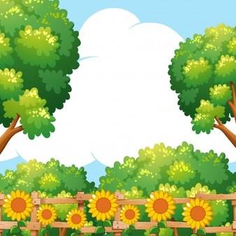 banner freeuse Garden background clipart. Portal