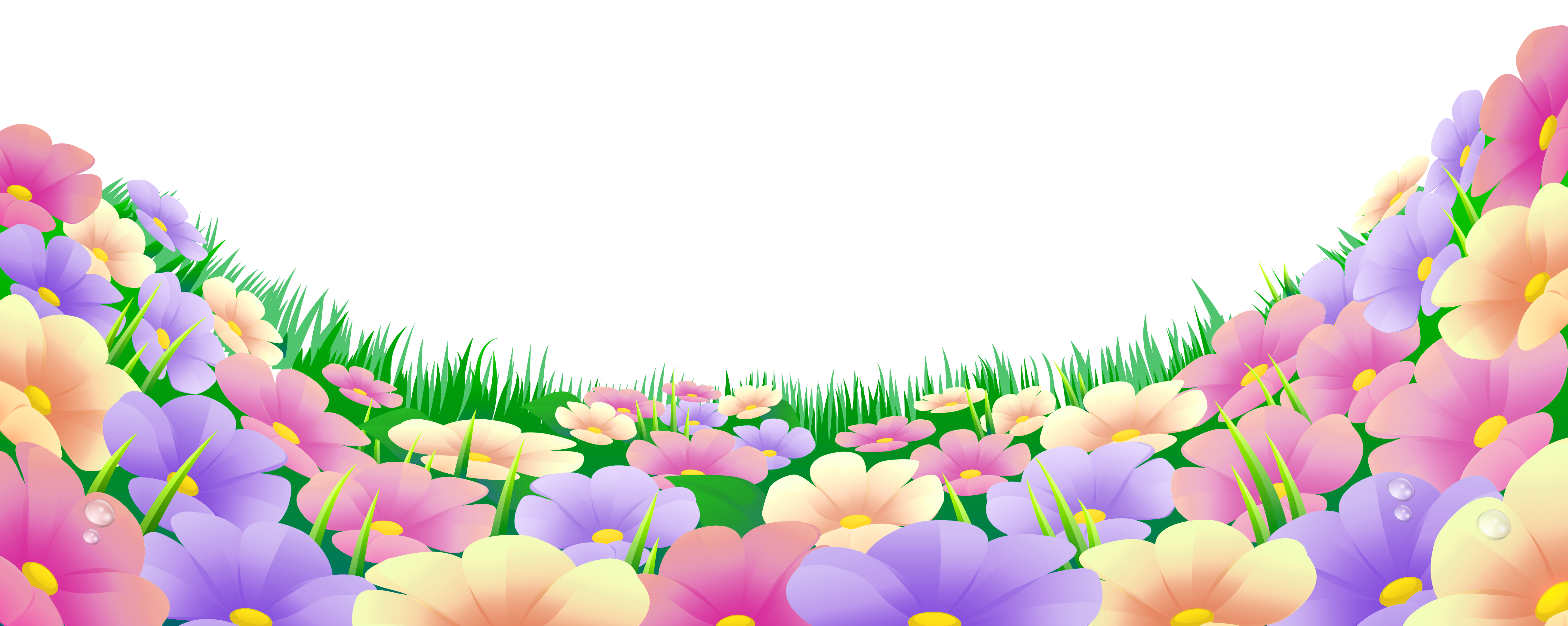 jpg freeuse library Garden background clipart. Grass with beautiful flowers