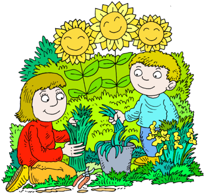 clipart library stock With clipart garden. Image mother and son