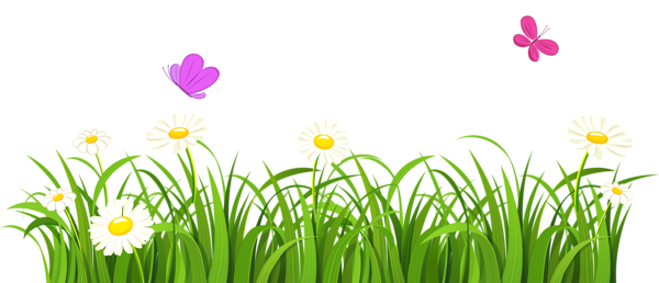 svg library Grass and Butterflies PNG Clipart