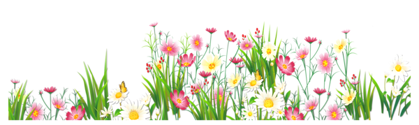 png black and white Flowers and grass png. With clipart garden