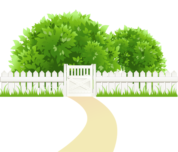 svg transparent Path with and trees. Western fence clipart