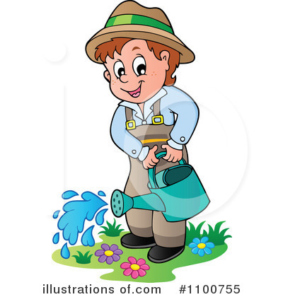 svg royalty free stock Gardener clipart. Gardening illustration by visekart.