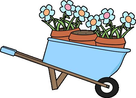 clipart library download Garden clip art images. Wheelbarrow clipart