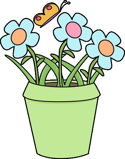 image black and white library Gardening Flower Pot Clip Art