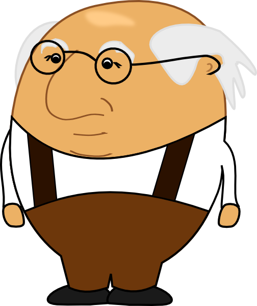png library library Guy clipart animated. Old man clip art