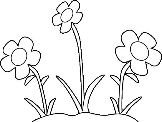 svg freeuse stock Black and White Flower Garden Clip Art