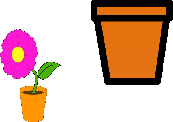 clip black and white download Pot Plant Clipart potting soil