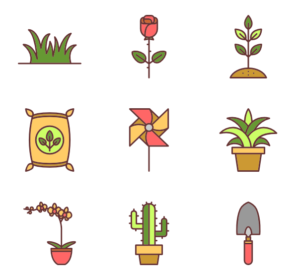 svg black and white library Gardening Icons