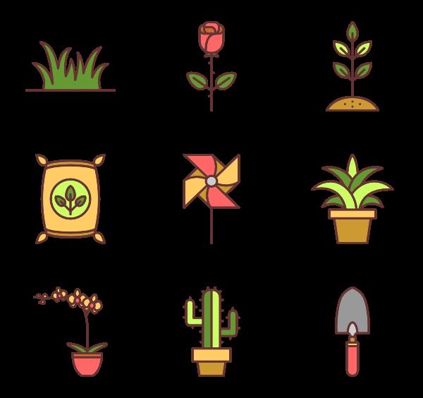 jpg library Gardening Icons
