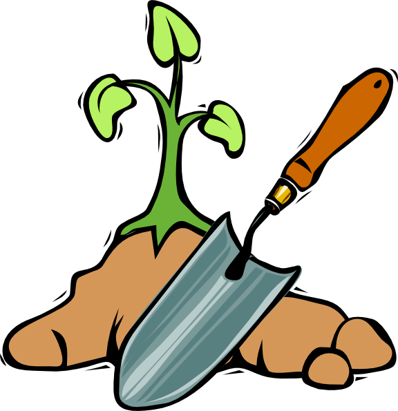 svg freeuse stock Gardening Clipart