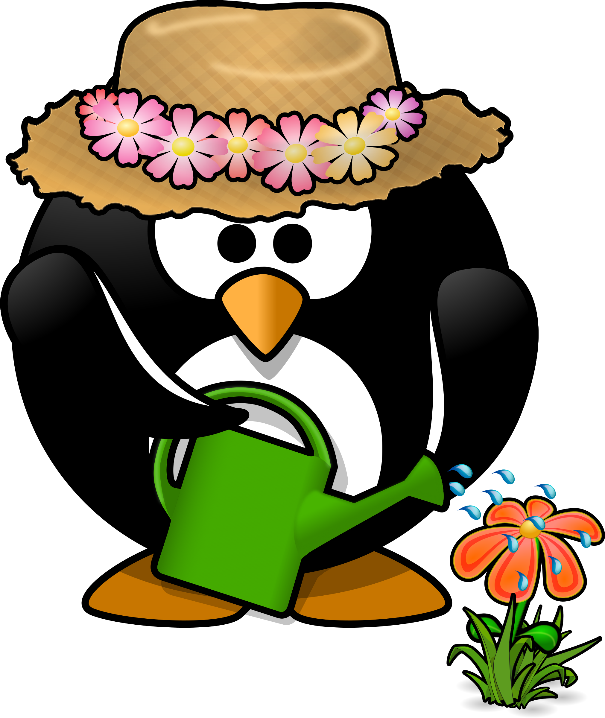 picture black and white library Gardening clipart. Fall images clip art