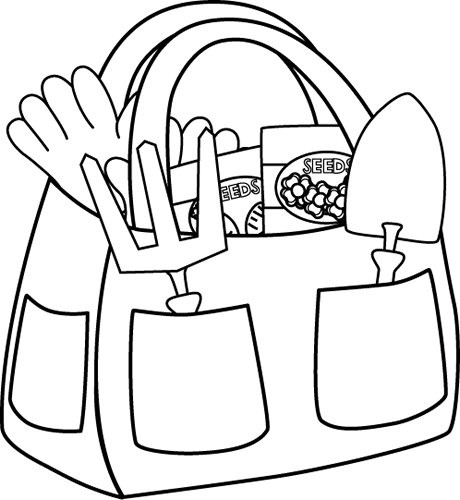 free Luggage clipart black and white. Gardening