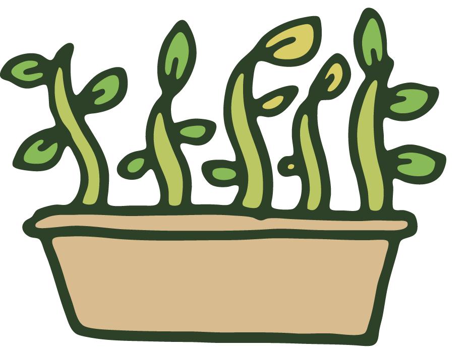 picture black and white gardener clipart plant propagation #79249858