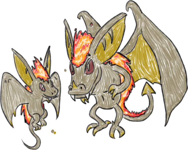 freeuse library Fire Gargoyle Fakemon Line