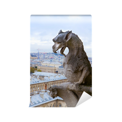 image transparent download Gargoyle on Notre Dame Cathedral Wall Mural