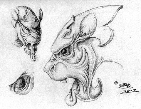 picture black and white stock Gargoyle Concept by tarkheki on DeviantArt