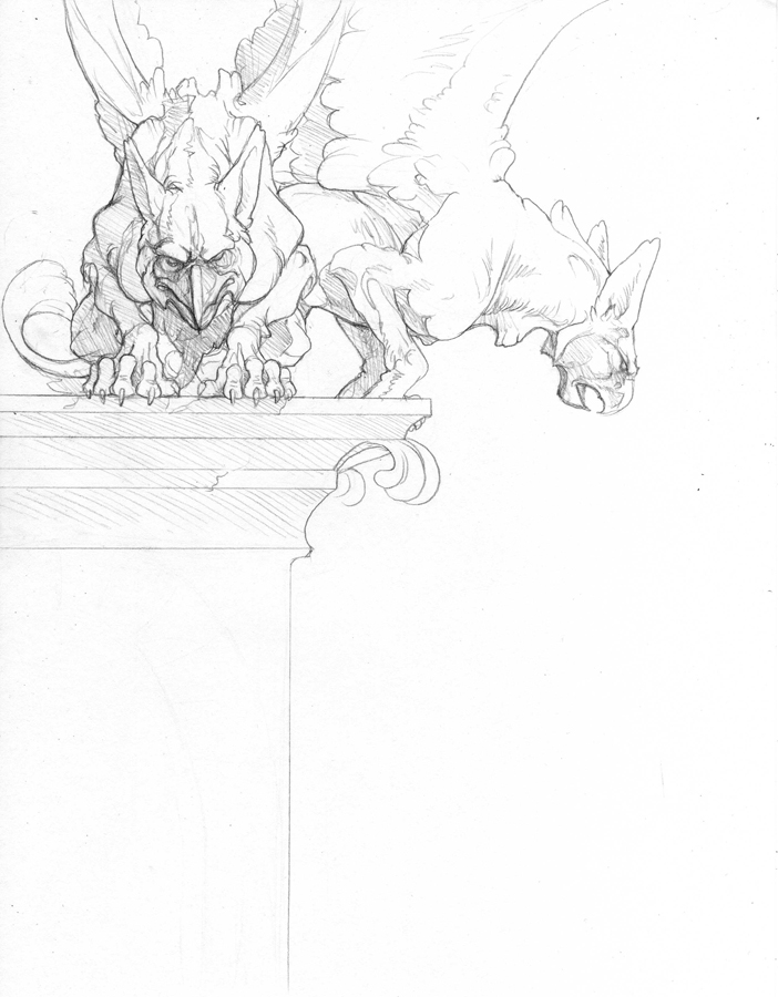 graphic royalty free download By hibbary on deviantart. Gargoyles drawing griffin